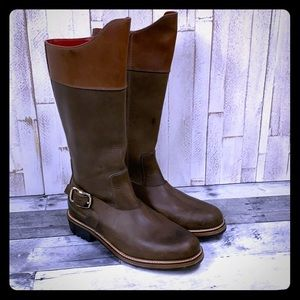 Rare Cole Rood and Haan Leather Zip Riding Boots